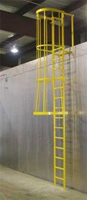 Industrial Safety Cages Amp Ladders Warehouse Safety