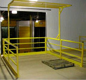 104 pivot mezzanine safety gates warehouse safety equipment daco 104 pivot industrial mezzanine safety gates sciox Image collections