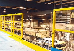 6 single panel slide safety gate warehouse safety equipment daco 6 single panel slide industrial mezzanine safety gates sciox Image collections