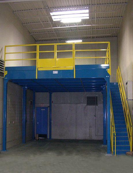 Equipment Storage Mezzanines : Custom steel mezzanines equipment platforms daco corp