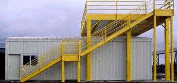 Custom steel mezzanines equipment platforms daco corp for Steel mezzanine design