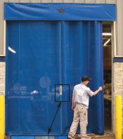 Sliding Mesh Overhead Roll Up Commercial Industrial