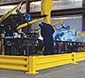 "17"" Tee Single Level Safety Rail Column"