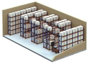 Selective Pallet Racks Diagram