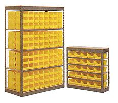 Bin Storage Units made from Steel Shelving