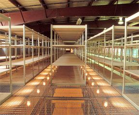 Mezzanine with walkway made from Sheel Shelving