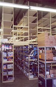 Auto Parts Storage made from Sheel Shelving