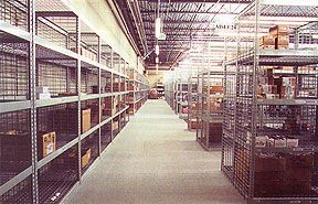 Retail Outlet & Distribution Center Storage made from Sheel Shelving