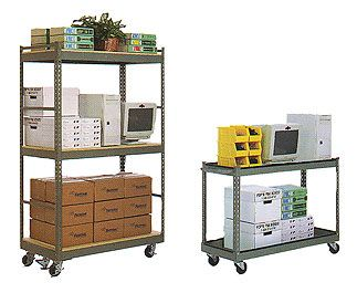Stock and Service Carts made from Steel Shelving