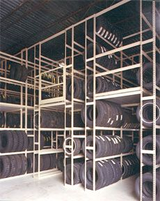 Tire Storage made from Sheel Shelving