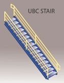 UBC stairways for modular offices