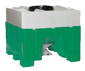 8091 - Open Top, Bottom Discharge Plastic Hopper Bin