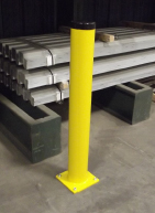 48x6 Round Safety Steel Bollards