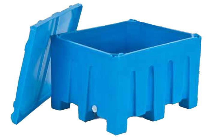 55L Collapsible Plastic Storage Box Durable Stackable
