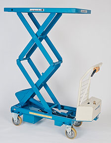 BX-50WB - Mobile Electric Battery Double Scissor Lift Tables
