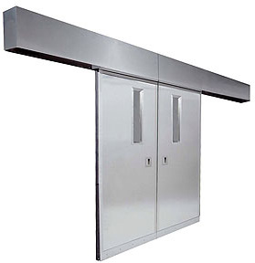 Excel 265 - Fire UL Rated - Bi Parting, Power, Stainless Steel Commercial Doors