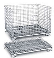 C404824S4C - Bulk Folding Wire Containers with Casters