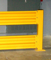 "43"" Interior Double Level Safety Guard Rail Column"