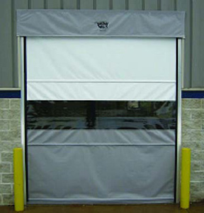 Gravity Feed Motorized Vinyl Commercial Overhead Roll Up Doors