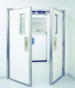 Excel 235 - Paired Swinging - Power, Fiberglass Commercial Doors