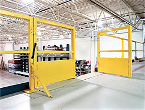 Double Swing Mezzanine Safety Gates Warehouse Safety Daco