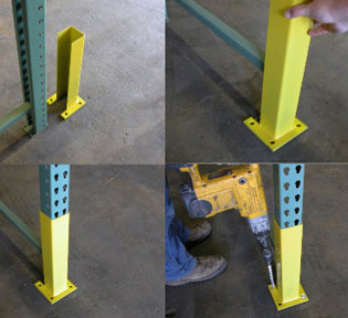 Bully Column Guards Pallet Rack Repair Component