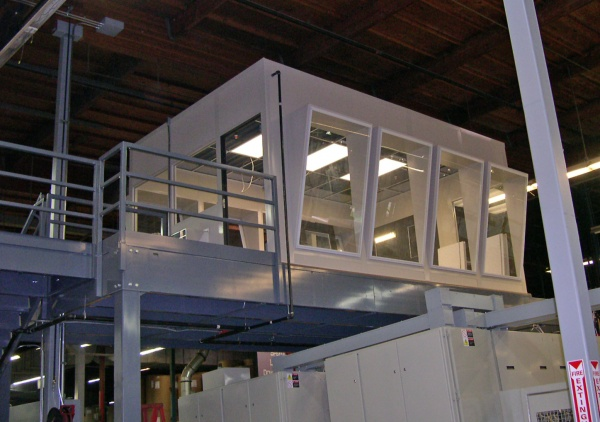 Elevated Modular Office Control Room