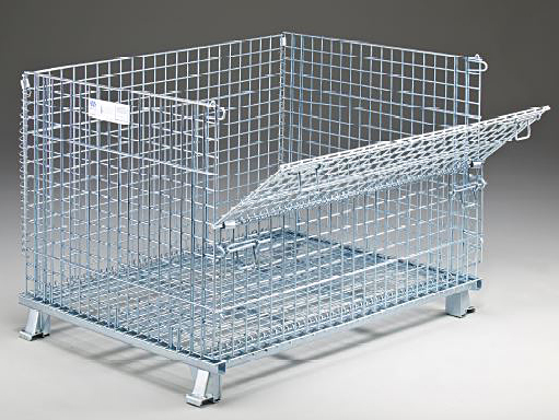 C404830S4C - Bulk Folding Wire Containers with Casters