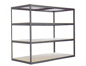 q7w6916 4 wide span industrial boltless metal shelving unit - Industrial Metal Shelving