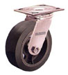 16MR052-S - Series 16 Mold-On Rubber Tread / Iron Core (MR) Industrial Casters