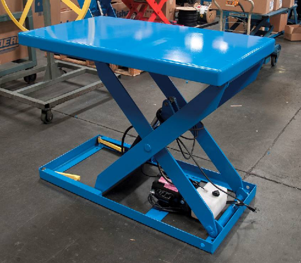 Small Hydraulic Lift Table : L k optimus hydraulic scissor lift tables daco corp