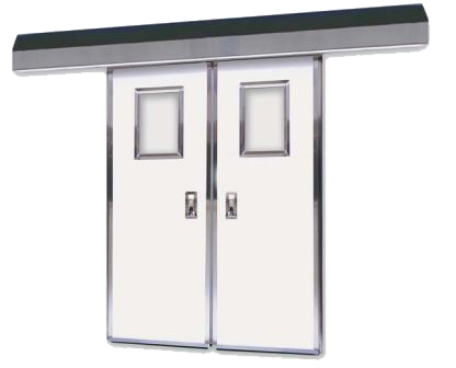 Excel 1270 - Bi Parting - Manual, Fiberglass Commercial Doors