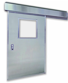 Excel 1240SS - Single Sliding - Manual, Stainless Steel Commercial Doors