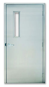 Excel 225SSF - Fire UL Rated - Single Swinging, Power, Stainless Steel Commercial Doors
