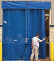Garage Door Rubber Seal >> Sliding Mesh Overhead Roll Up Doors   Industrial Doors   DACO