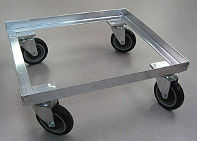 DYJM221905A-PUP-SSL - Aluminum Dolly with brake for ChillPac Stack and Nest Containers