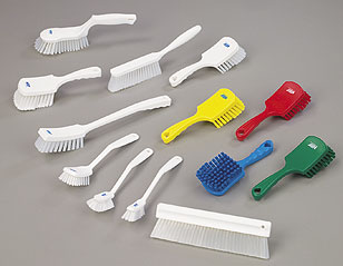 Color Coded Hand Cleaning Brushes