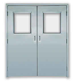 Excel 235SS - Paired swinging - Power, Stainless Steel Commercial Doors