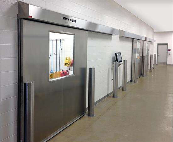Excel 1240SS - Single Sliding - Manual, Stainless Steel Commerical Doors