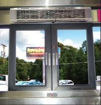 PTW Drive-Thru Window Commercial Air Curtain