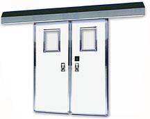 Excel 1260 - Bi-Parting - Power, Fiberglass Commercial Doors